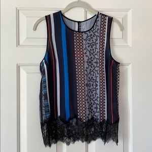Clover Canyon patchwork lace tank